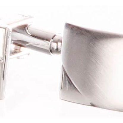 Manžetové knoflíky elegantní z chirurgické oceli, rhodiované