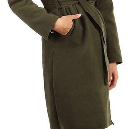 Dámský fleecový kabátek s kapucí khaki