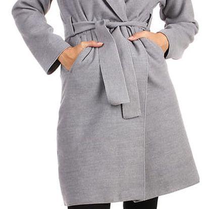 Dámský fleecový kabátek s kapucí světle šedá