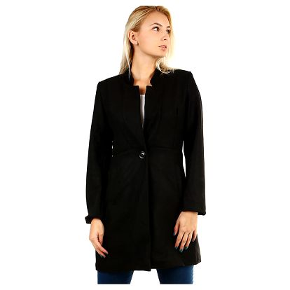 Dámský přechodný áčkový kabát černá
