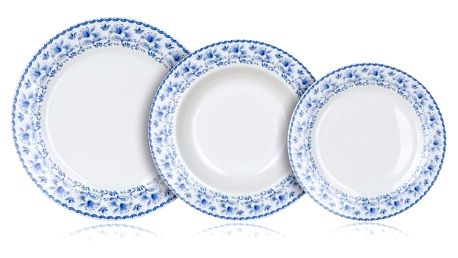 Banquet Sada talířů BLUEBELL, 18 ks