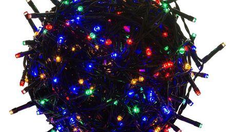 Voltronic 39454 Vánoční LED osvětlení 10 m - barevné 100 LED - zelený kabel