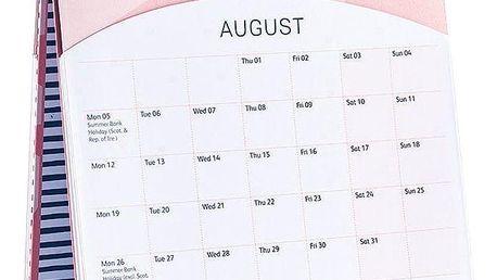 Busy B Stolní kalendář Fashion 2019, růžová barva, modrá barva, papír