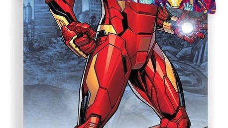 Jerry Fabrics Dětské bavlněné povlečení Iron Man, 140 x 200 cm, 70 x 90 cm