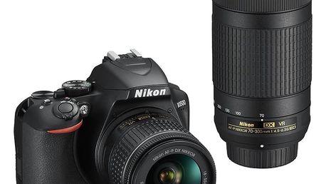 Nikon D3500 + AF-P DX 18-55mm VR + AF-P DX 70-300mm VR černý (VBA550K005)