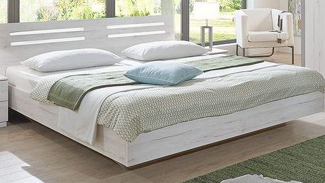 SUZAN, postel 160x200 cm, bílý dub
