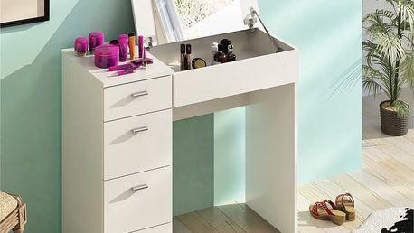 Toaletní stolek BELINA bílá Tempo Kondela