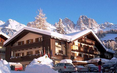 Lyžování Itálie, Jižní Tyrolsko - Hotel Arnica - 5denní lyžařský balíček se skipasem a dopravou v ceně