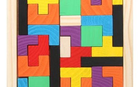 Dřevěné tetris puzzle