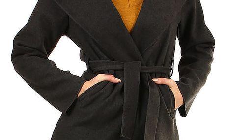 Dámský fleecový kabátek s kapucí tmavě šedá