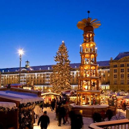 Adventní trhy v Drážďanech i Primark
