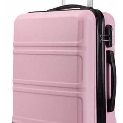 Dámský růžový kabinový kufr Voyage 1871