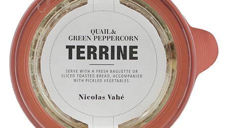 Nicolas Vahé Křepelčí terina se zeleným pepřem 110 g, bílá barva, sklo