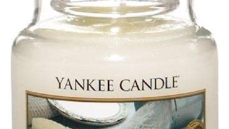 Yankee Candle Svíčka Yankee Candle 104gr - Baby Powder, bílá barva, sklo