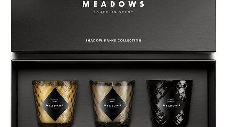 MEADOWS Dárková kolekce svíček Meadows - Shadow Dance, žlutá barva, černá barva, hnědá barva, sklo
