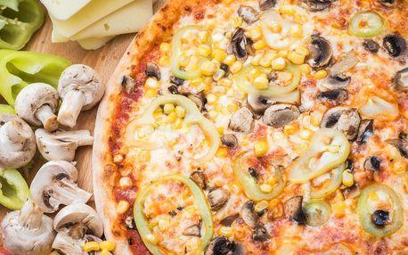 Pizza dle výběru v Líšni v restauraci Čtyřlístek