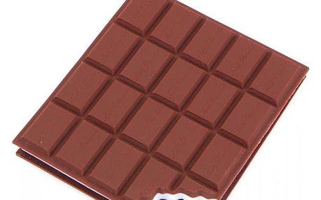 Zápisník ve tvaru čokolády