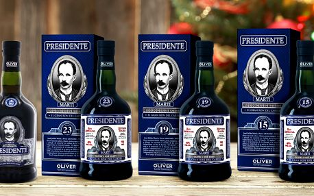 Skvělý dárek: kvalitní rumy Presidente z Karibiku