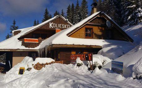 Zimní pobyt v horské chatě s polopenzí pro 2