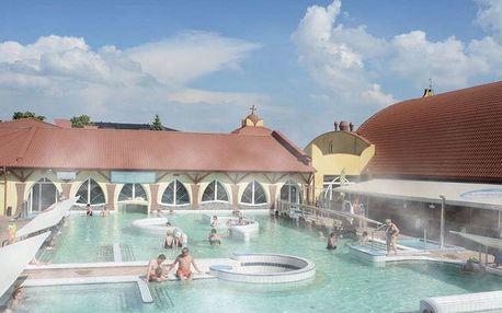 Velký Meder, Hotel Aqua Thermal v areálu termálních lázní Corvinus s polopenzí a vstupem