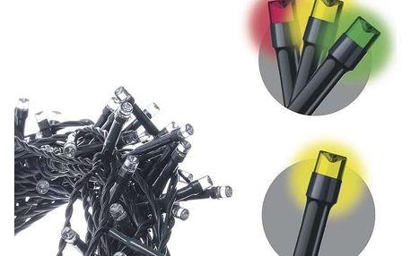 EMOS 100 LED řetěz, 10m, teplá bílá/multicolor, programy (1534201300)
