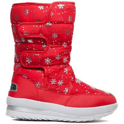 Dámské červené sněhule Hayden 013