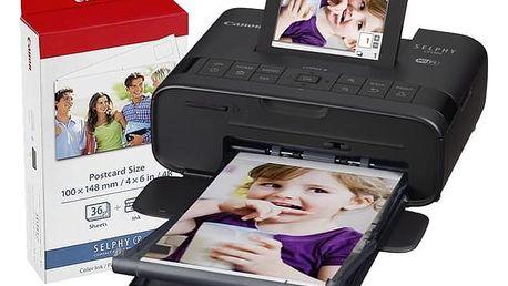 Canon Selphy CP1300 + papíry KP-36 černá