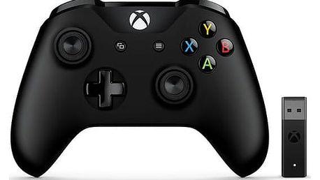 Microsoft Xbox One Wireless + adapter pro Windows černý (4N7-00002)