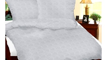 Bellatex Krepové povlečení šedá, 220 x 200 cm, 2x 50 x 70 cm