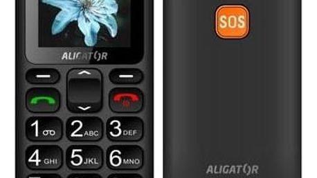 Aligator A321 Senior Dual SIM černý/šedý (A321GB)