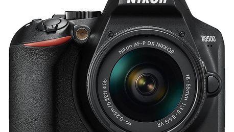 Nikon D3500 + AF-P DX 18-55mm VR černý (VBA550K001)