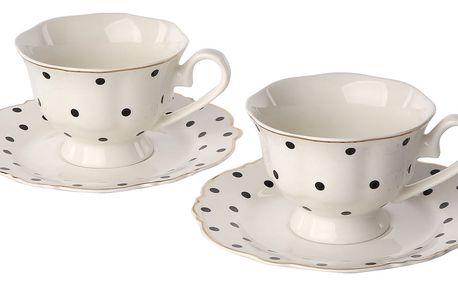 Altom Sada porcelánových šálků s podšálky Madison 150 ml, 2 ks