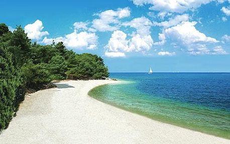 Chorvatsko - Istrie na 6 až 10 dní, snídaně nebo bez stravy s dopravou vlastní 50 m od pláže