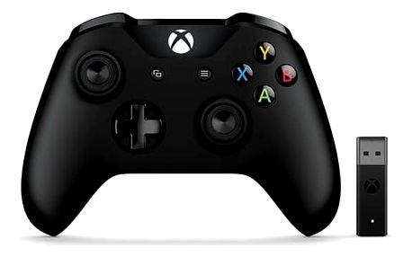 Microsoft Xbox One Wireless + adapter pro Windows černý (4N7-00002)