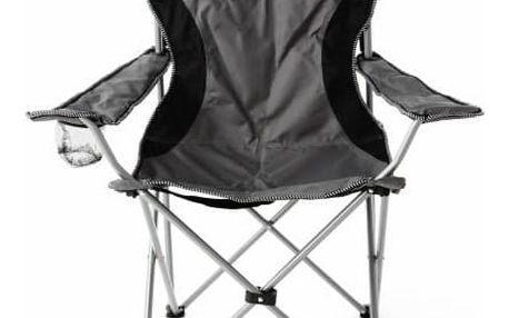Divero 40804 Kempingová rybářská skládací židle - šedá