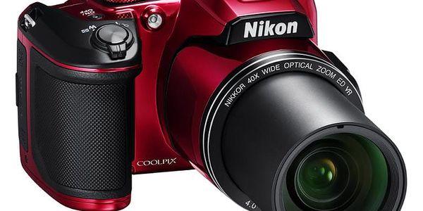 Digitální fotoaparát Nikon Coolpix B500 červený5