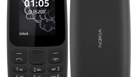 Nokia 105 Dual SIM 2017 černý (A00028348)