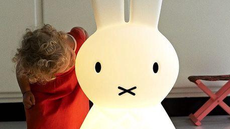 Mr Maria Dětská králičí LED lampa Miffy XL, černá barva, bílá barva, plast
