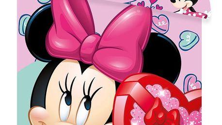 Jerry Fabrics Dětské povlečení do postýlky Minnie baby pink, 100 x 135 cm, 40 x 60 cm
