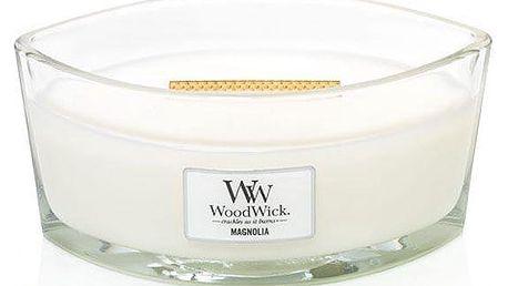 WoodWick Vonná svíčka WoodWick - Magnólie 454gr, bílá barva, sklo, vosk