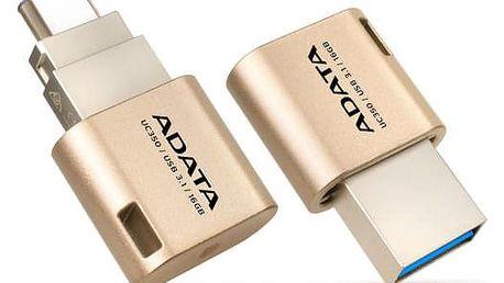 ADATA UC350 16GB OTG USB-C/USB 3.1 zlatý (AUC350-16G-CGD)