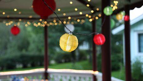 STAR TRADING Světelný lampionový LED řetěz Party, multi barva, plast