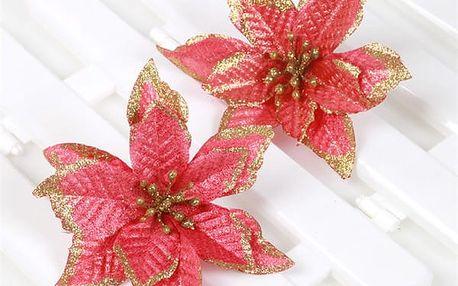 Vánoční ozdoba na stromek ve tvaru květiny