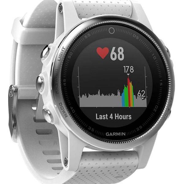 GPS hodinky Garmin Fenix 5S stříbrné/bílé (010-01685-00)4