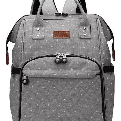 Mateřský šedý batoh na kočárek Blanche 6705D
