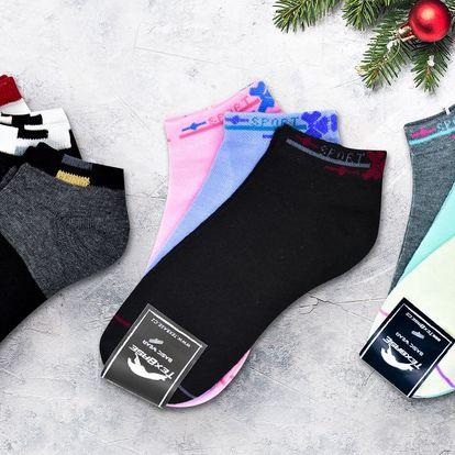 Pánské i dámské kotníkové ponožky v mnoha barvách