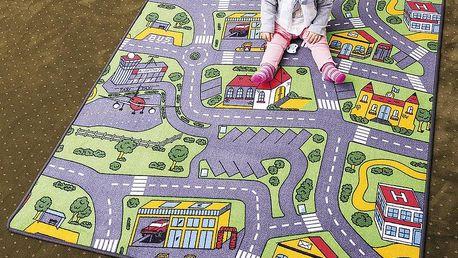 Vopi Dětský koberec City life vícebarevný, 80 x 120 cm