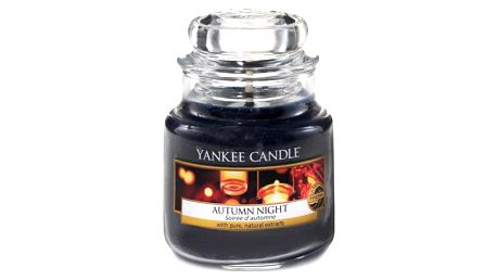 Yankee Candle Svíčka Yankee Candle 411gr - Autumn Night, černá barva, sklo