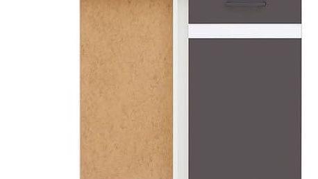 JUNONA, skříňka dolní roh. 100, levá, wolfram šedý