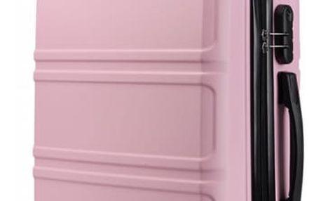Dámský růžový střední kufr Voyage 1871